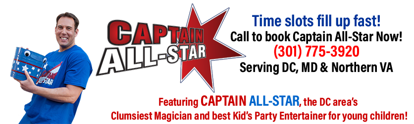 Captain All-Star - Magician for Kid's Parties Washington, DC, Maryland and Northern Virginia
